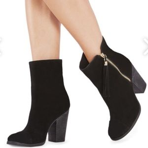 """""""Griffin"""" Black Suede Ankle Boots - Just Fab"""